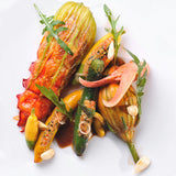 Chausey Islands lobster with courgette flower