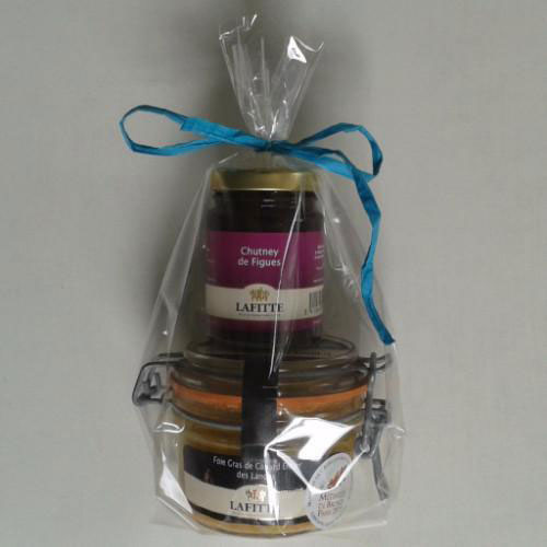 Gift Pack Whole Duck Foie Gras 130g + Fig Chutney - Silver Medal - Zouf.biz