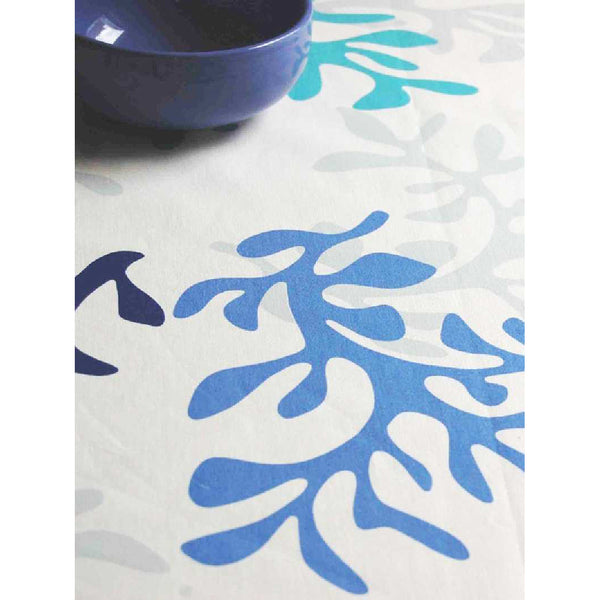 Acrylic Coated Tablecloth, Blue Coral - Zouf.biz
