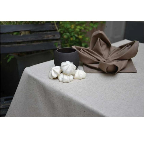 Acrylic Coated Tablecloth, Ecru - Zouf.biz