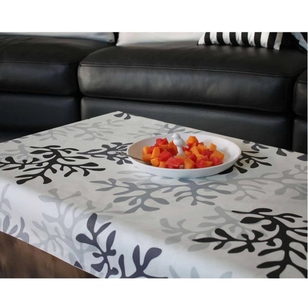 Acrylic Coated Tablecloth, Grey Coral - Zouf.biz