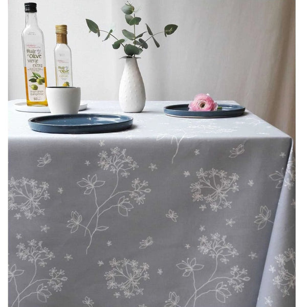 Acrylic Coated Tablecloth, Masterwort Grey - Zouf.biz