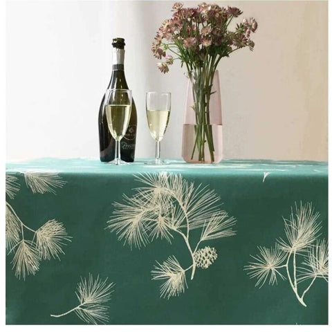 Acrylic Coated Tablecloth, Green Pine - Zouf.biz