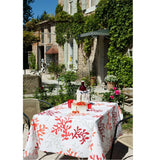 Acrylic Coated Tablecloth, Red Coral - Zouf.biz