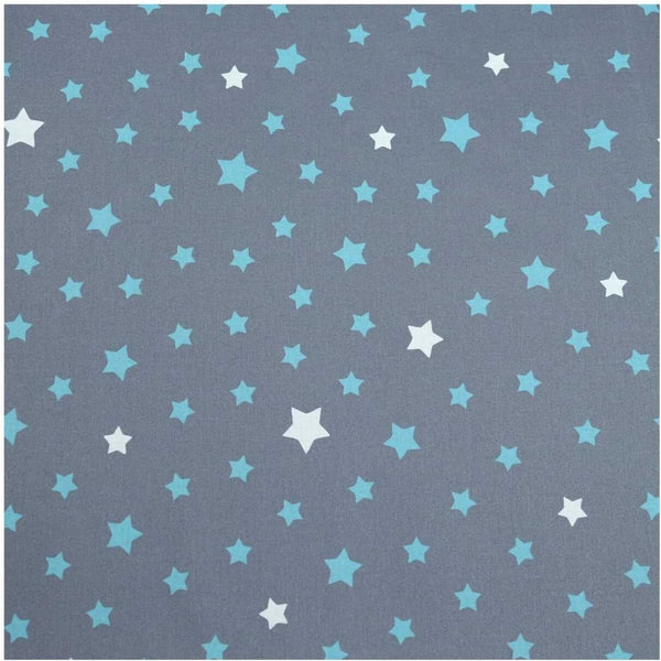 Acrylic Coated Tablecloth, Stars Turquoise - Zouf.biz