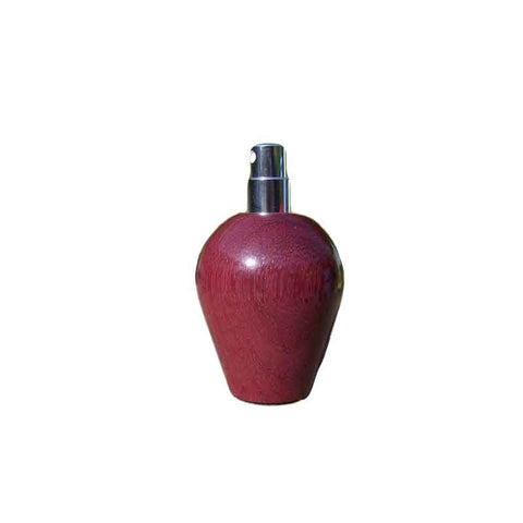 Amaranth Wood Round Travel Spray Refillable Holder - Zouf.biz