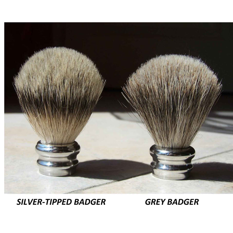 Pure Silver Tip Badger Shaving Brush Burr Yew Wood - Zouf.biz