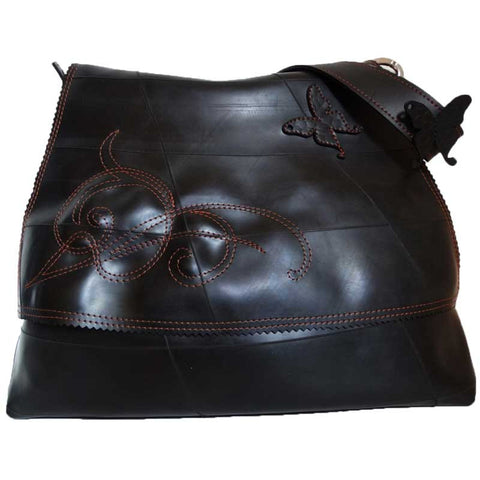 Shoulder Bag Attrayante handmade in France from recycled inner tubes