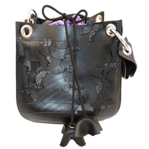 Crocus Recycled Inner Tubes Shoulder Bag - Zouf.biz