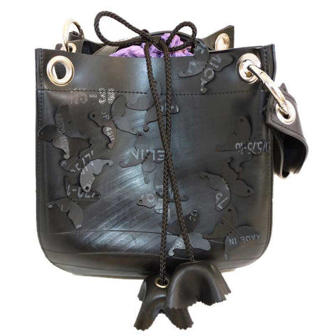 Crocus Recycled Inner Tubes Shoulder Bag Handmade in France
