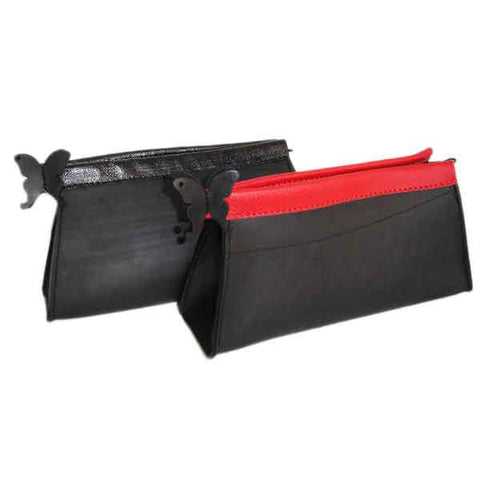 Recycled Tyre Inner Tube Bag La Grisette Black, Red France