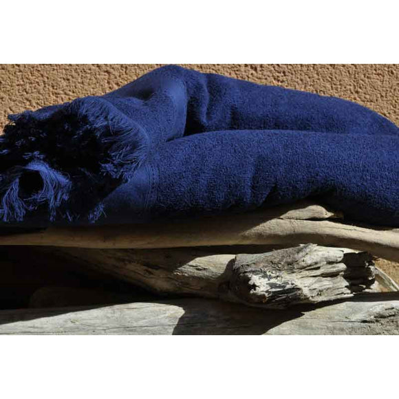 Cap-Ferret Navy 100% Cotton Beach Towel - Zouf.biz