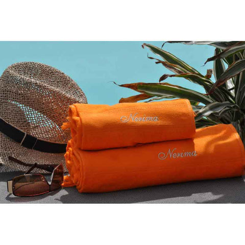 Cap-Ferret Orange 100% Cotton Beach Towel - Zouf.biz