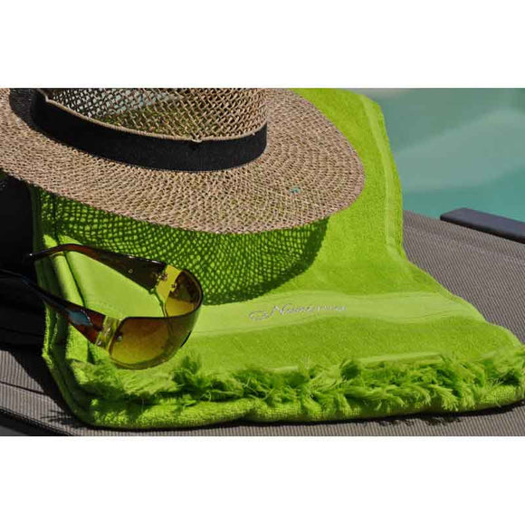 Cap-Ferret Pistachio 100% Cotton Beach Towel - Zouf.biz