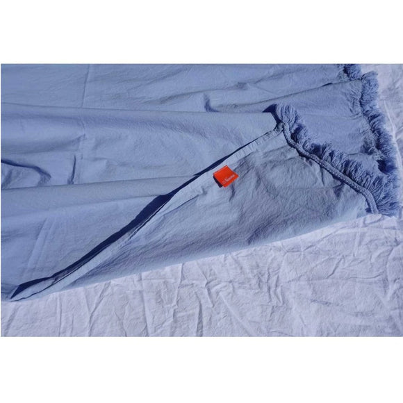Sky Blue Washed Cotton Fitted Sheet - Zouf.biz