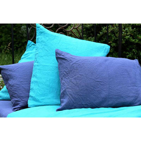 Blue Linen Pillow Case France