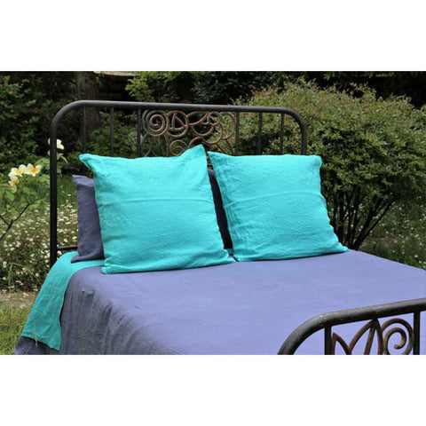 Dark Blue 100% Linen Duvet Cover made in France