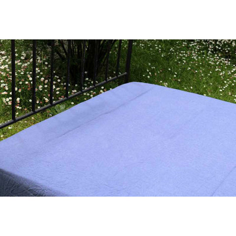 Dark Blue 100% Linen Fitted Sheet - Zouf.biz