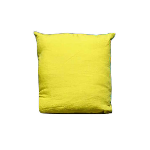 Yellow 100% Linen Pillow Case made in France