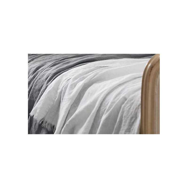 White 100% Linen Throw - Zouf.biz