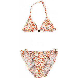 Moana Flower Print Bikini Orange - Zouf.biz