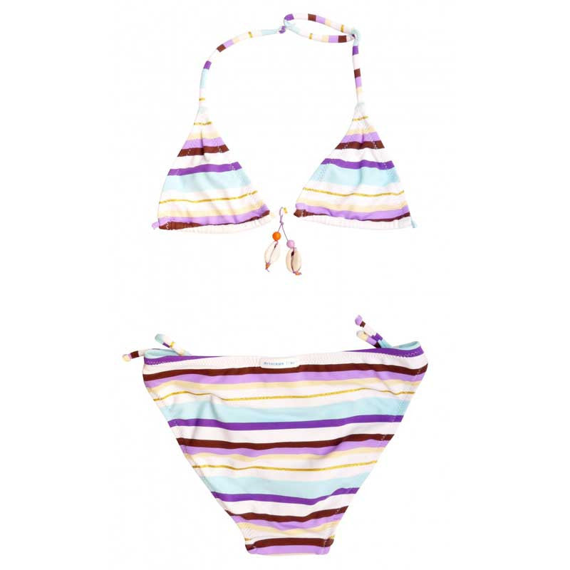Purple and Gold Stripes Bikini - Zouf.biz