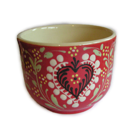Alsatian Pattern Breakfast Bowl - Red - 500ml - Zouf.biz