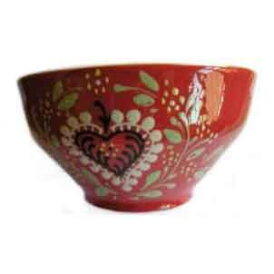 Alsatian Pattern Breakfast Bowl - Red - Zouf.biz