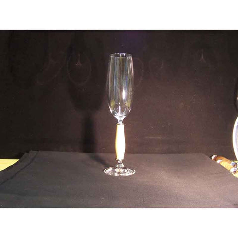 Crystal Champagne Flute on Boxwood Base - Zouf.biz