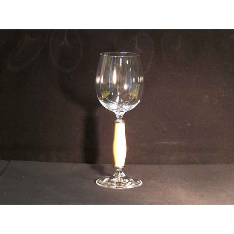 Crystal Wine Glass on Boxwood Base - Zouf.biz