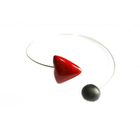 Cherry & Black Berlingots Ceramic Bracelet - Zouf.biz