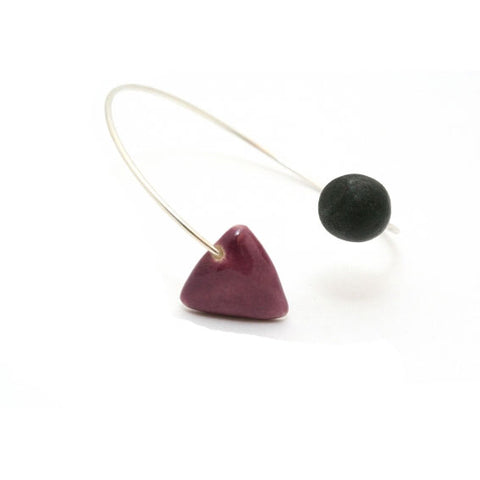 Plum & Black Berlingots Ceramic Bracelet