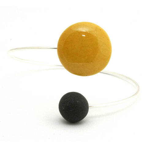 Sun & Black Moon Ceramic Bracelet