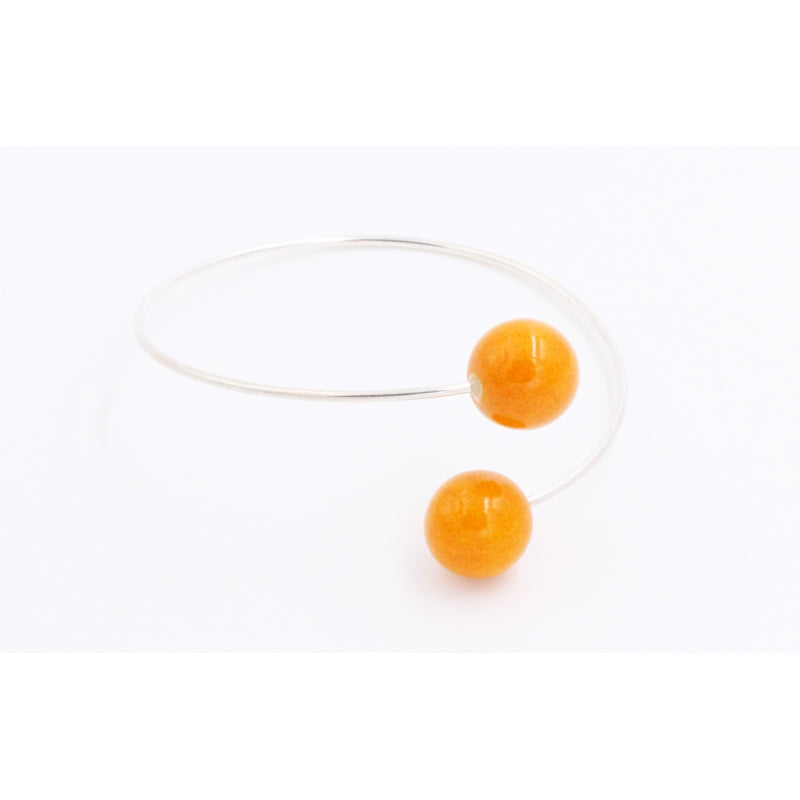 Orange Perles Duo Ceramic Bracelet - Zouf.biz
