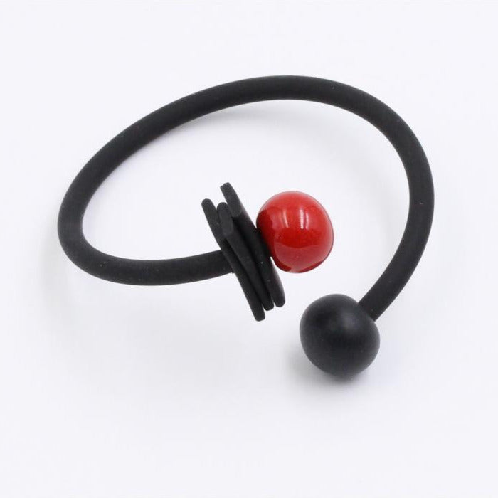 Cherry & Black Tribal Ceramic Bracelet - Zouf.biz