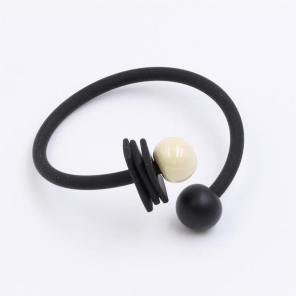 Ivory & Black Tribal Ceramic Bracelet - Zouf.biz