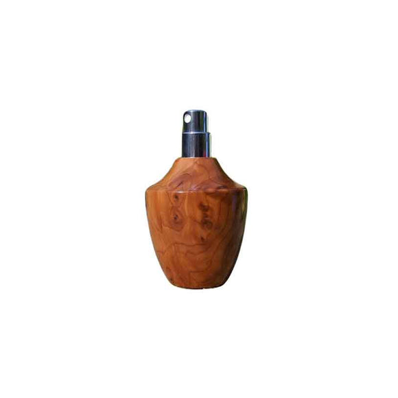 Burr Yew Wood Square Travel Spray Refillable Holder - Zouf.biz