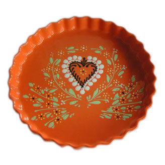 Alsatian Pattern Round Fluted Dish 28cm - Orange - Zouf.biz