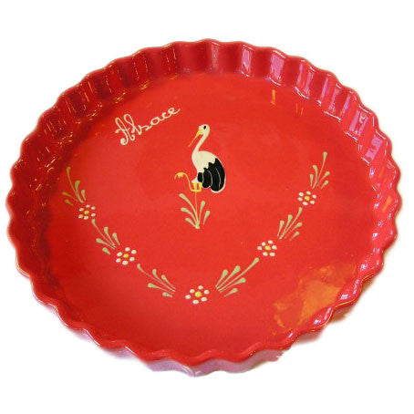 Bird Round Fluted Dish 28cm - Red - Zouf.biz