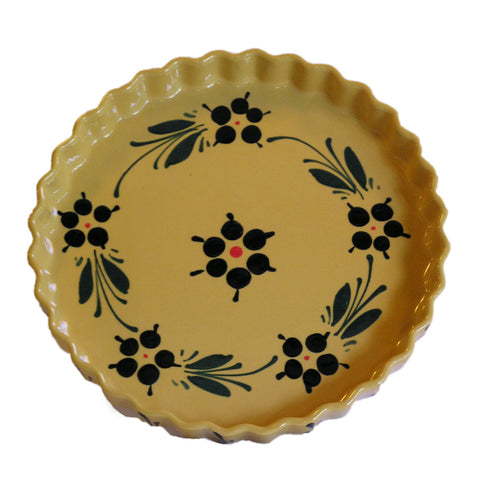Flower Round Fluted Dish 28cm - Yellow - Zouf.biz