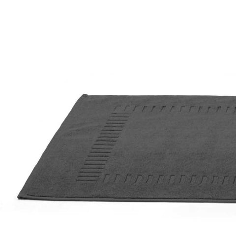 Cap-Ferret Grey 100% Cotton Bath Mat - Zouf.biz