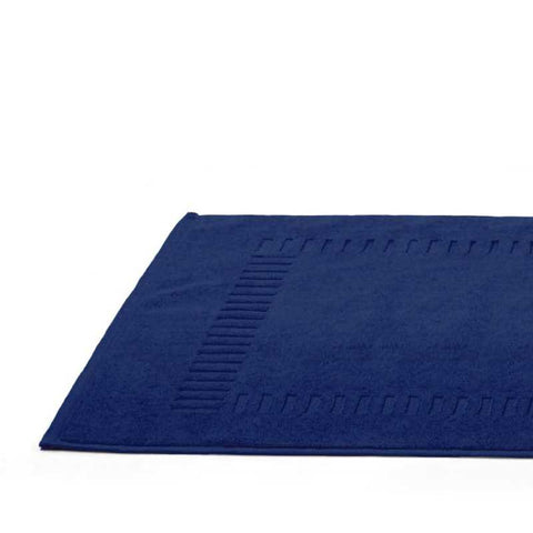 Cap-Ferret Navy 100% Cotton Bath Mat - Zouf.biz