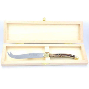Laguiole Cheese Knife Horn Tip, Prestige Collection - Zouf.biz