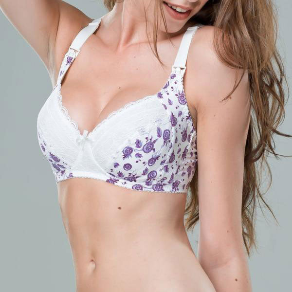 Lavender Lace Maternity Nursing Bra Non-Wired - Zouf.biz