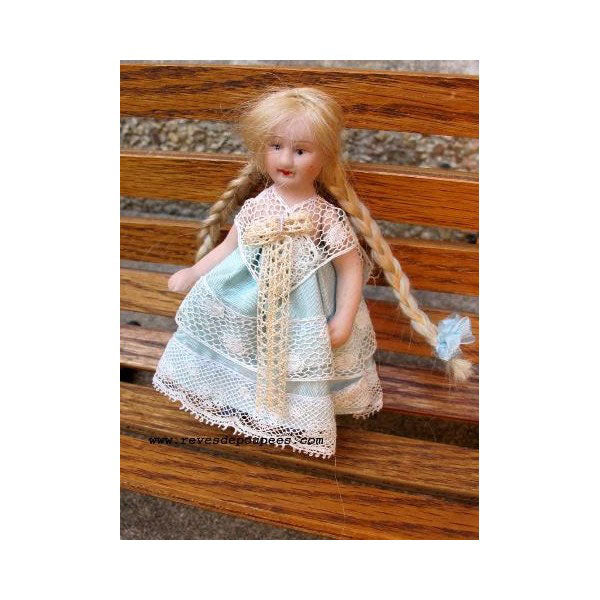 All-Bisque Doll Myosotis - Zouf.biz