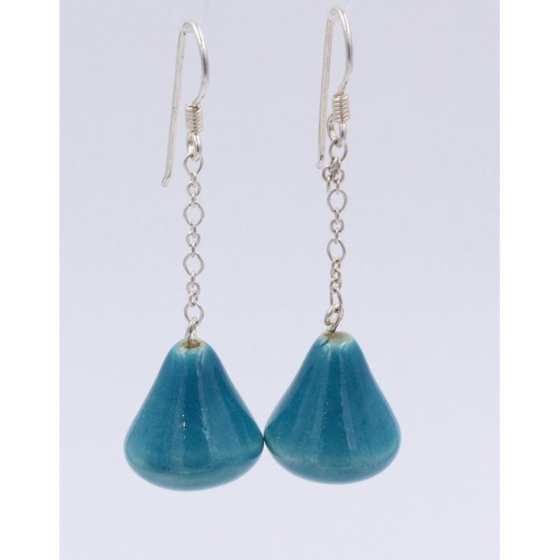 Turquoise Conic Drop Earrings - Zouf.biz