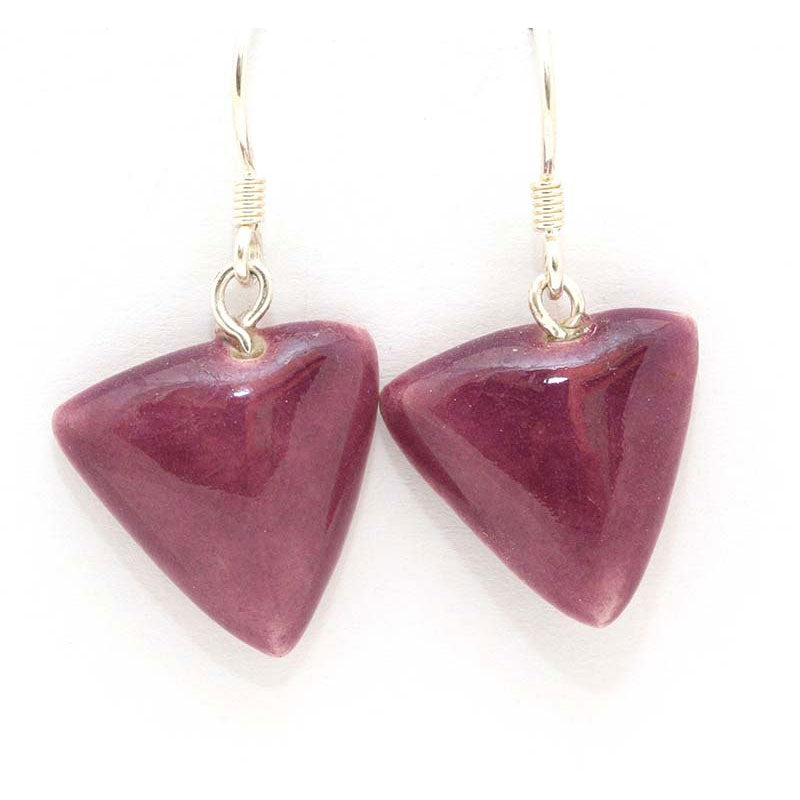 Plum Berlingots Drop Earrings - Zouf.biz
