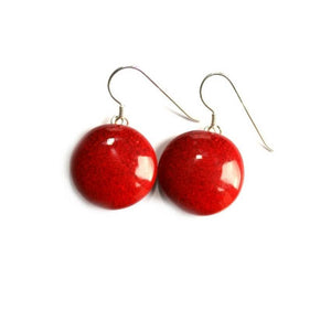 Cherry Moon Ceramic Drop Earrings - Zouf.biz