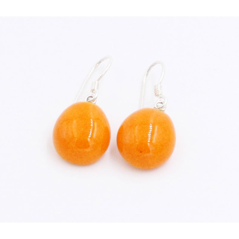 Orange Gouttes d'Eau Urban Drop Earrings - Zouf.biz
