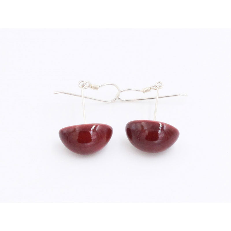 Blackcurrant Inca Yucatan Ceramic Drop Earrings - Zouf.biz